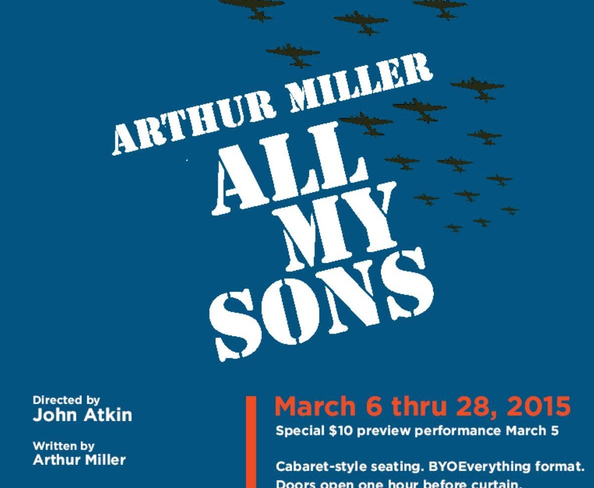 All My Sons Curtain Call Dressing Room Theater Stamford, CT March 2015